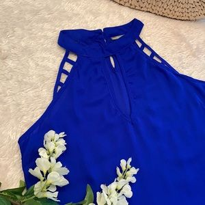 Charlotte Russe New Blue Sleeveless Top, size L